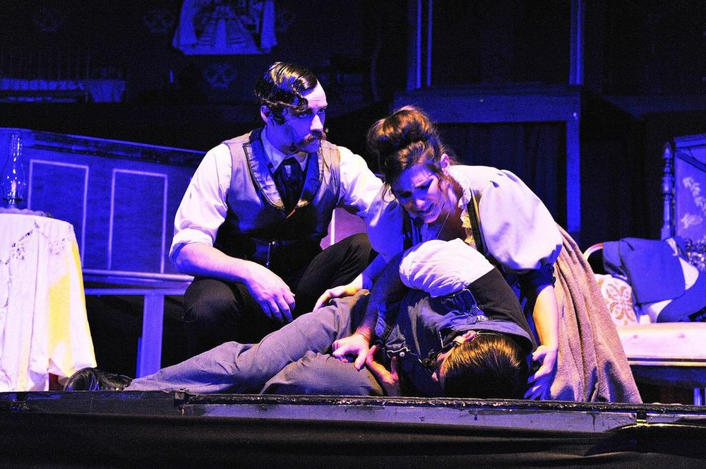 Moira Goldie Horowitz, Chris K, and myself during Murdercastle. Photo Courtesy of: Heather Keating
