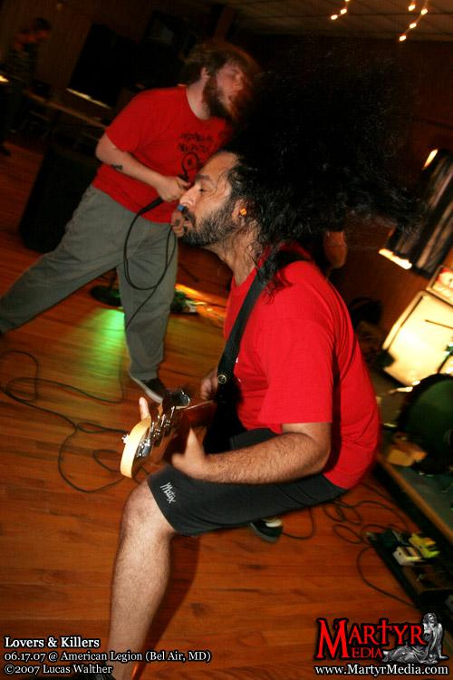 Thejus rocking the hell out with that big ol' mane. Lovers and Killers, photo by Lucas Walther.