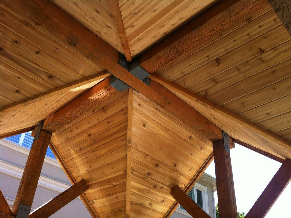 Premium hardwood beams and custom cedar interior finishes.