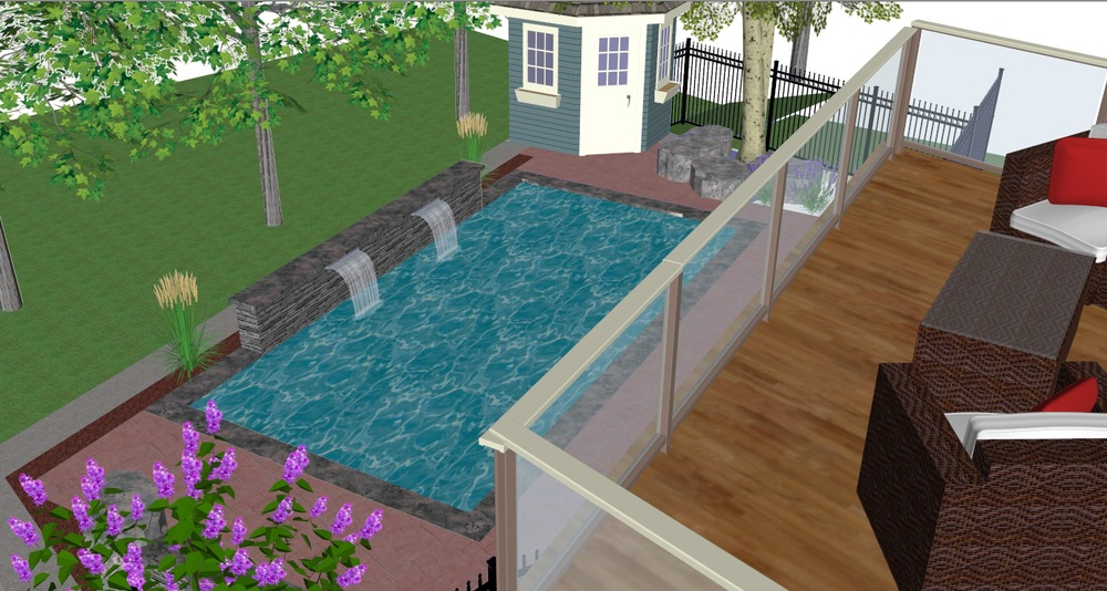 3D Backyard Concept Landscape Designers Guelph, ON