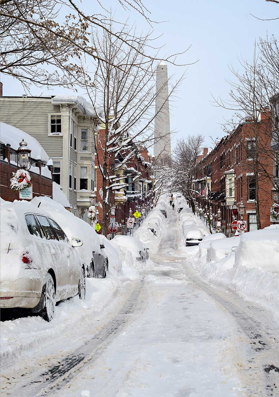 Monument Street after Winter Storm Neptune :: Charlestown, Massachusetts :: Feburary 15, 2015