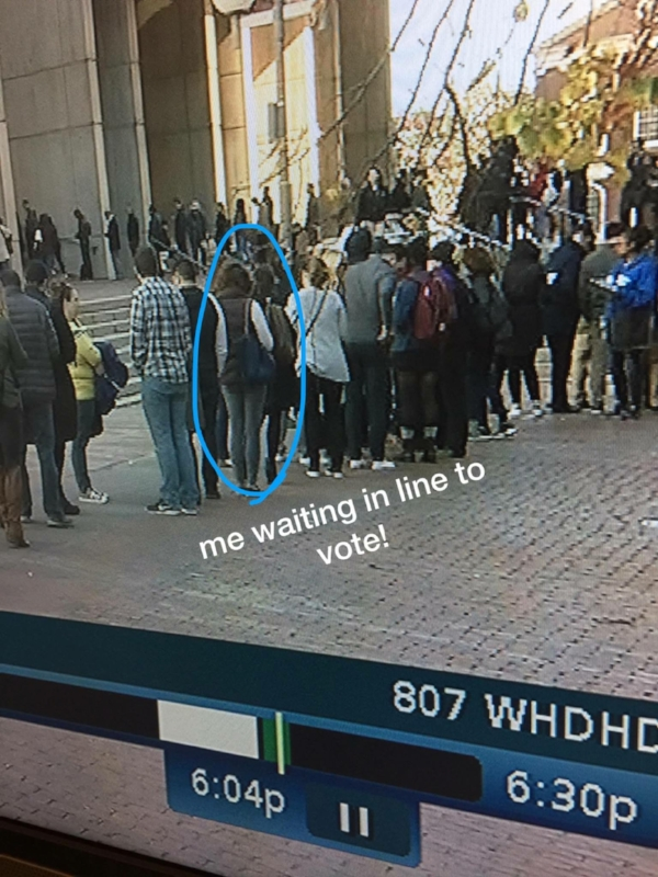 The local TV news stations covered the long lines on the last day of early voting