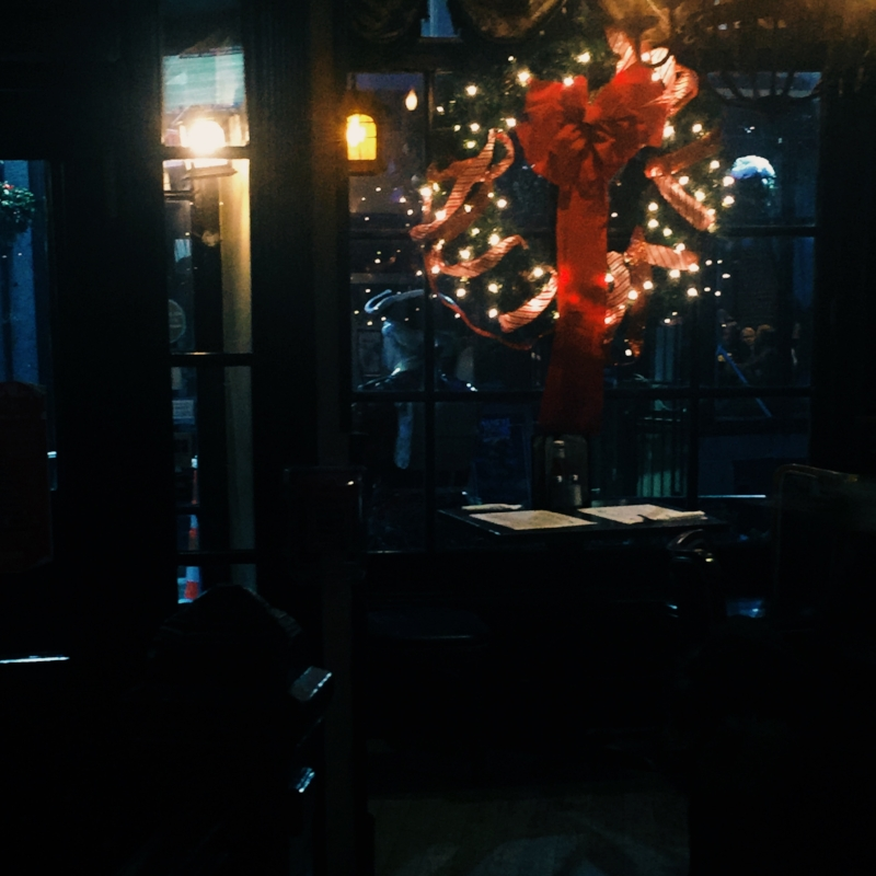 A warm pub on a cold night at Christmastime is kind of lovely - Green Dragon Pub in Boston.