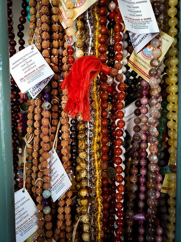 Favorite photo of the day - January 14, 2019.  Mall beads at Sayoga. I'm such a magpie when I shop, making a beeline for the shiny, pretty things.