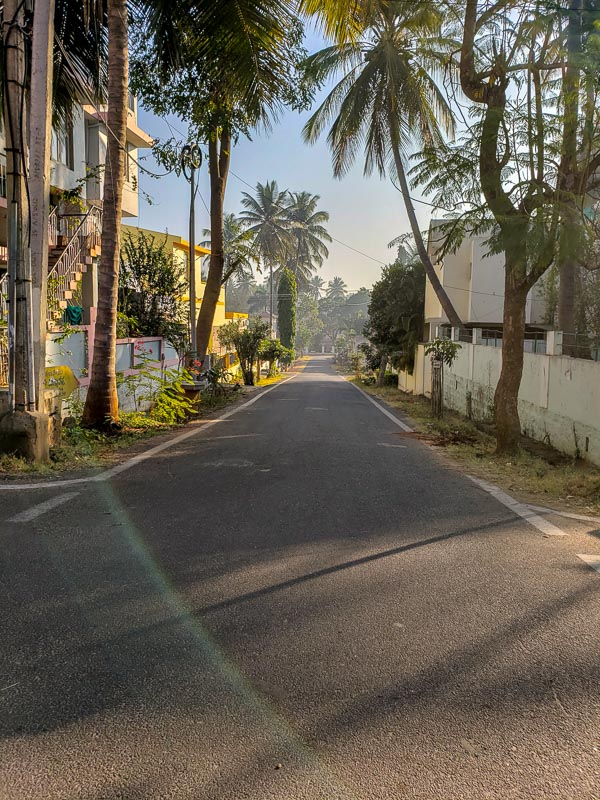 January 3, 2019 - One of the neighborhood streets in Golukam, near the Jois shalas.