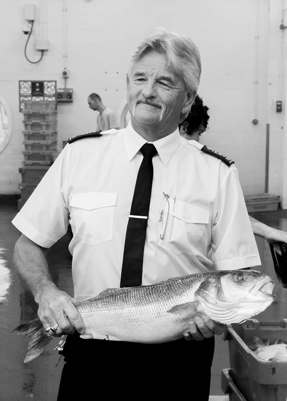 Pete Bromley at Plymouth Fisheries