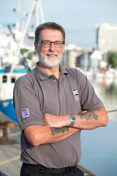 Joe Ransley, Lock and Wharf Manager - Joe is a former fisherman who has worked at Plymouth Fisheries for the last 12 years, and was promoted to the position of Lock and Wharf Manager in early 2017. Joe liaises closely with Plymouth Trawler Agents staff and manages vessels coming into Sutton Harbour through the lock gates.A crucial part of Joe's role is to ensure good communications between the lock and the fisheries, making daily operations as easy as possible for everyone involved. With such a high number of boats making their way through Sutton Harbour lock each day, Joe's role is vital to enable a well-run system of operations for visiting fishing vessels, as well as leisure marine traffic and other harbour users.