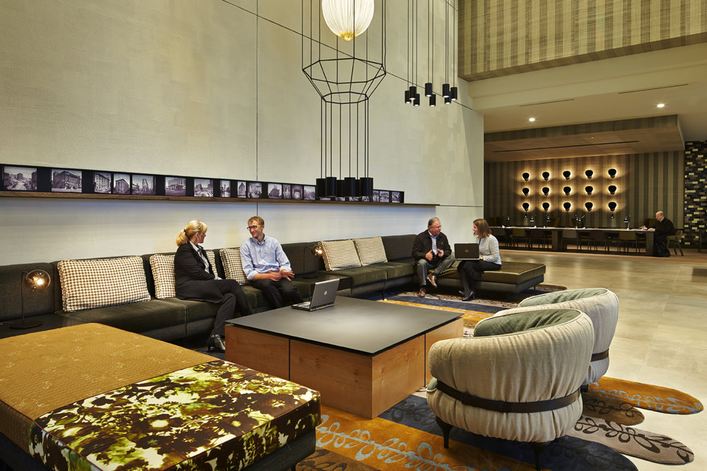 couch / ottoman - westlake tower lobby