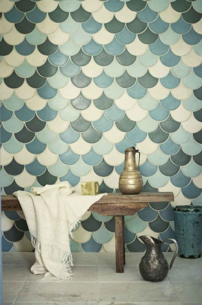 Paris Cabaret wall tiles | Fired Earth Via A Feminine Tomboy