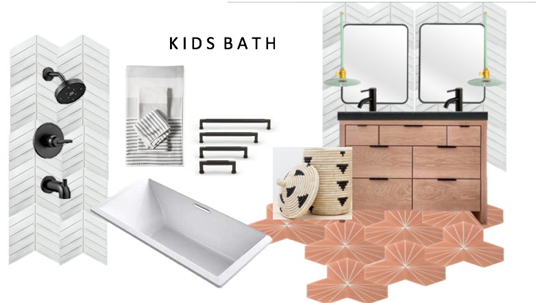 The cutest kids bathroom, and the crowd favorite tile! I can't wait to see this one come together.