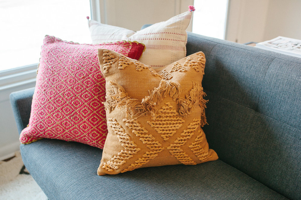 Pillows from  Golden and Pine