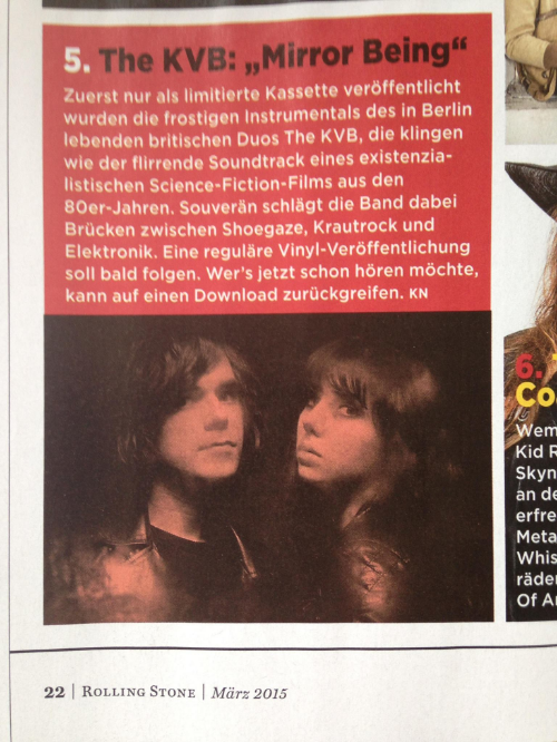 Rolling Stone Deutschland, March Playlist 2015