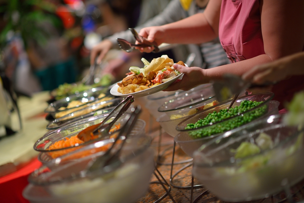 Beyond restaurant meals, you can earn rebates on catering too.