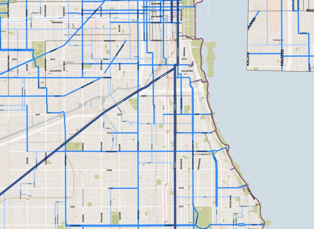NEAR SOUTH BIKE NETWORK MAP