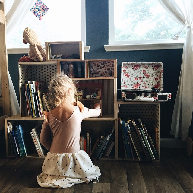 First morning light and she returned to her calico critter playhouse. Her little four year old dreams came true. She has been playing with the house at the toy store for months and was thrilled to have her own.
