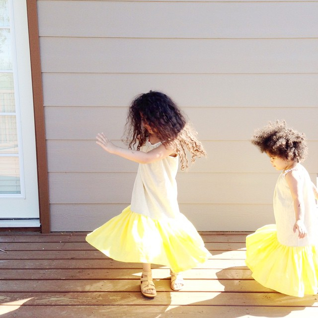 I love @thirtytinytoes and her sweet girls twirling in our dresses for Easter is perfect. We have maybe a handful of this dress left and then no more are being produced.