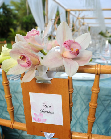 Florals and Seating Card