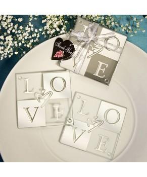 Love Shines Through Coaster Set Favors