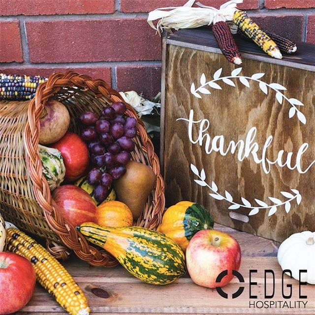 Happy Thanksgiving from everyone at @edgehospitality !
