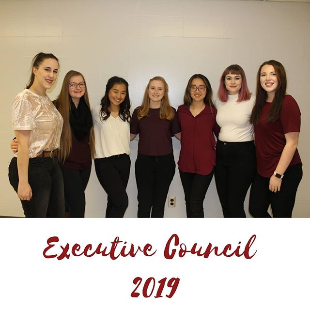 Introducing the 2019 executive council ☆☆ We wish the best of luck to these amazing women in our community!