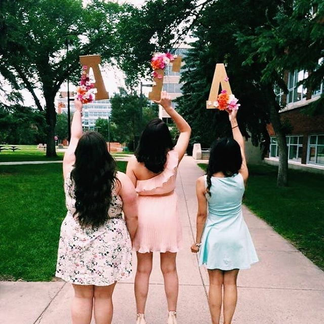 """A sister is a gift to the heart, a friend to the spirit, a golden thread to the meaning of life"" ❤ #alphagammadelta #ualbertasororities"