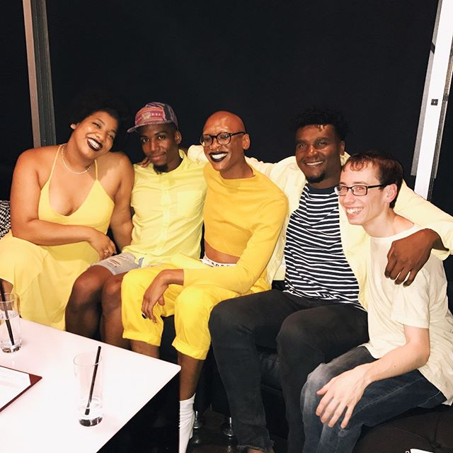 (SWIPE for more) @boweryslam team, feeling very Bodak Yellow. We pulled a 1 and a 2 in our prelim bouts. But we're celebrating how hard we fight and the love keeping us going. #boweryslam #npsdenver #bodakyellow #boutfit