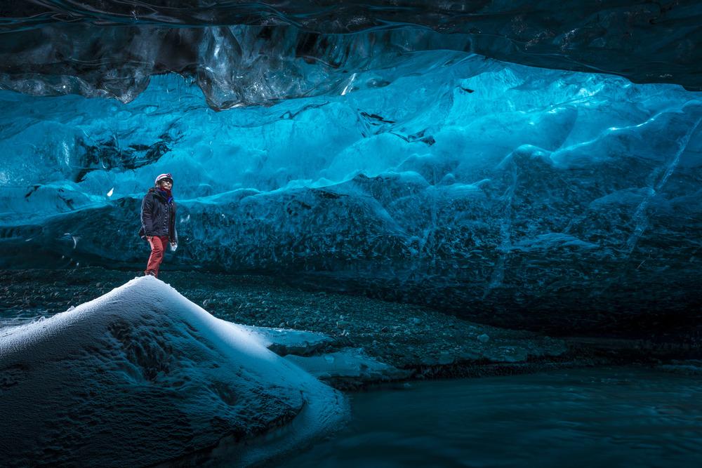 Ice cave in Breiðamerkurjökull