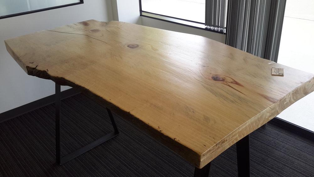 Live Edge Torrey Pine And Steel Office Table U2014 WeldWood Furniture U0026 Design