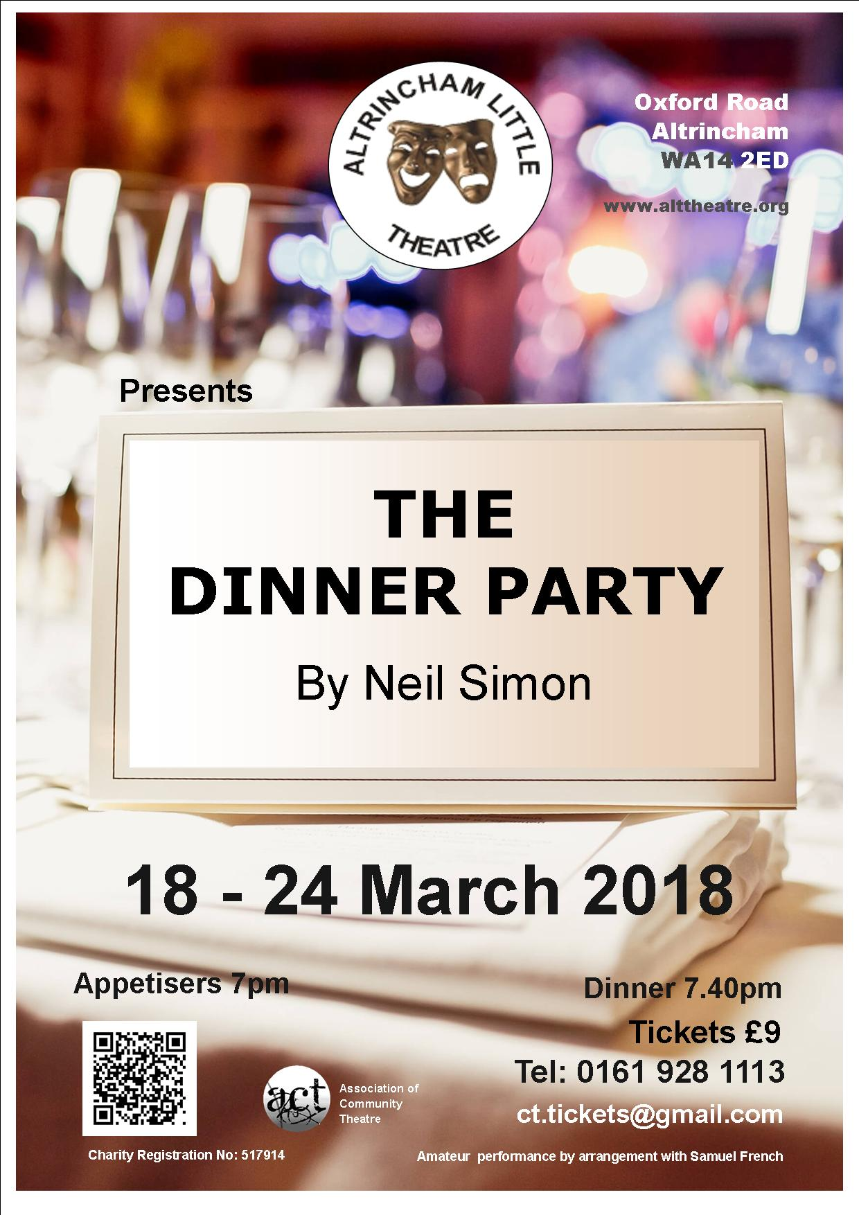 altrincham little theatre the dinner party by neil simon cheshire