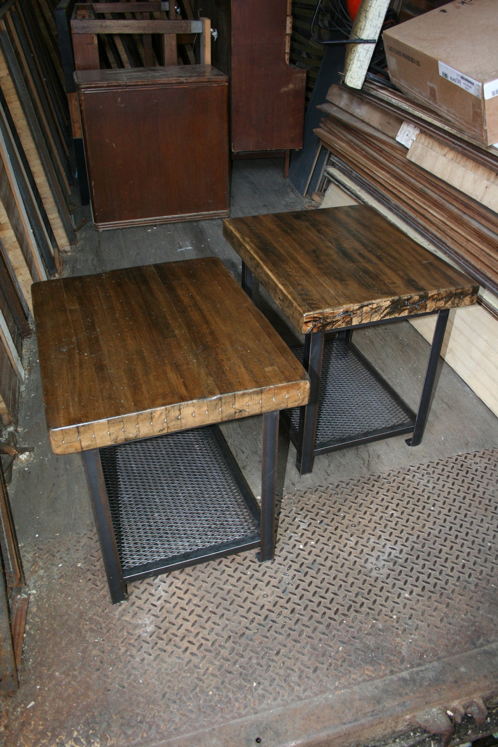 Maple Bowling Alley End Tables $350 each