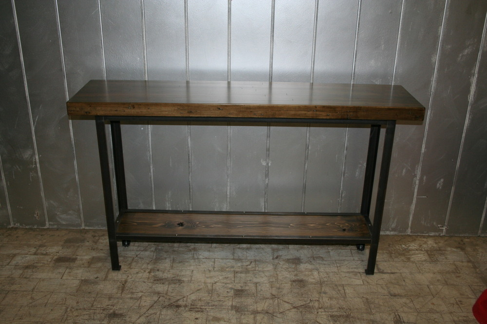 "Maple Bowling Alley Console Table 58"" x 14"" $625"