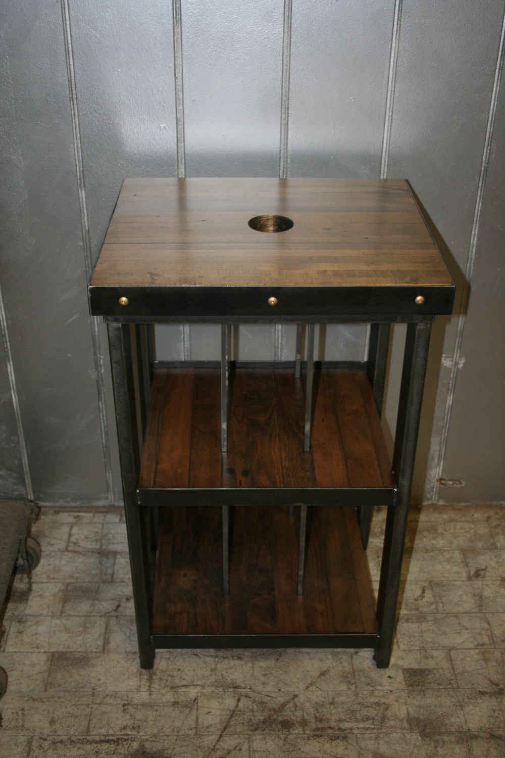 Maple Bowling Alley Record Player Stand $725