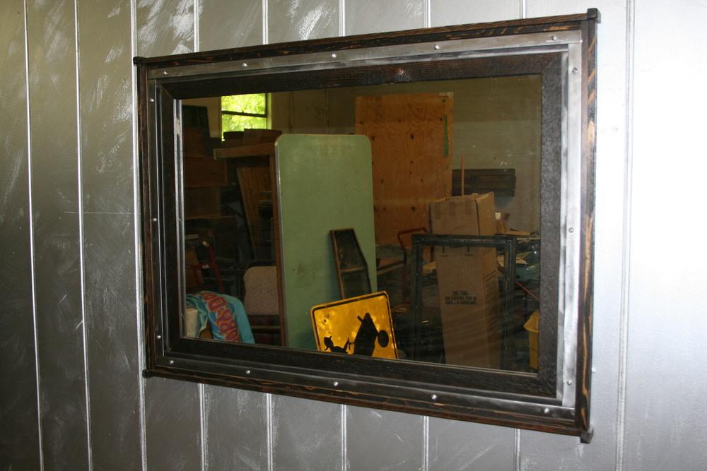 "Industrial Mirror ""42 x 32"" $375"