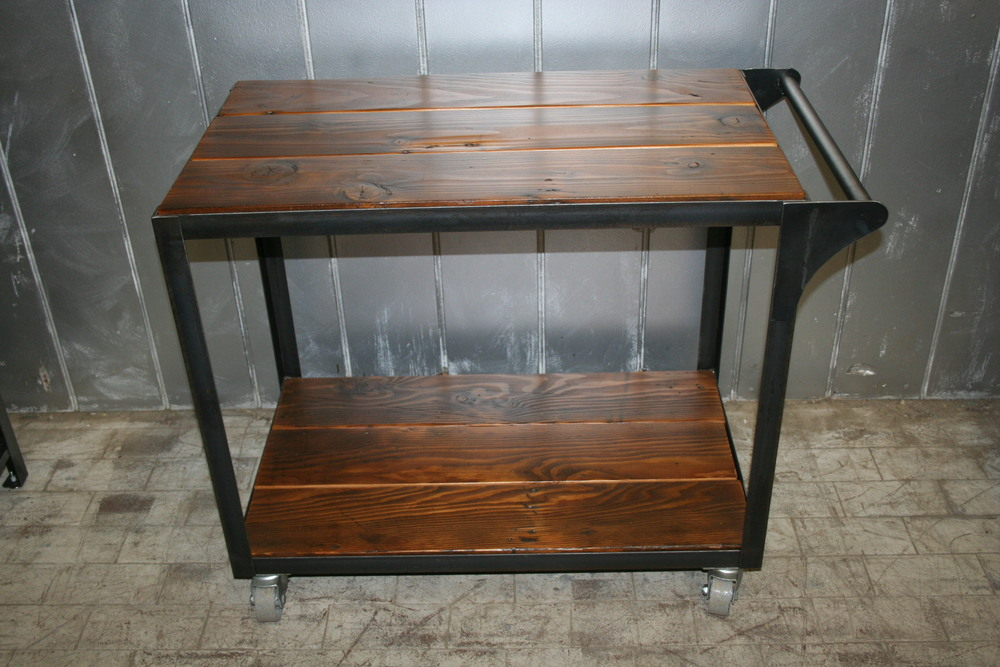 Industrial Bar Cart $675
