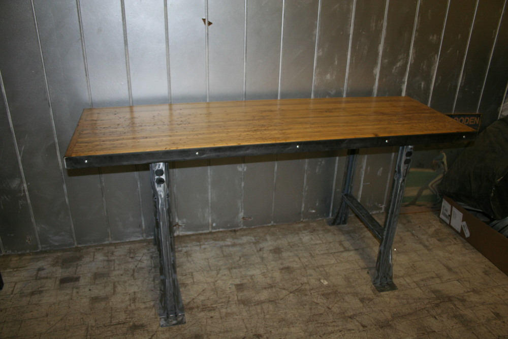 Pine Bowling Alley Workbench $1250