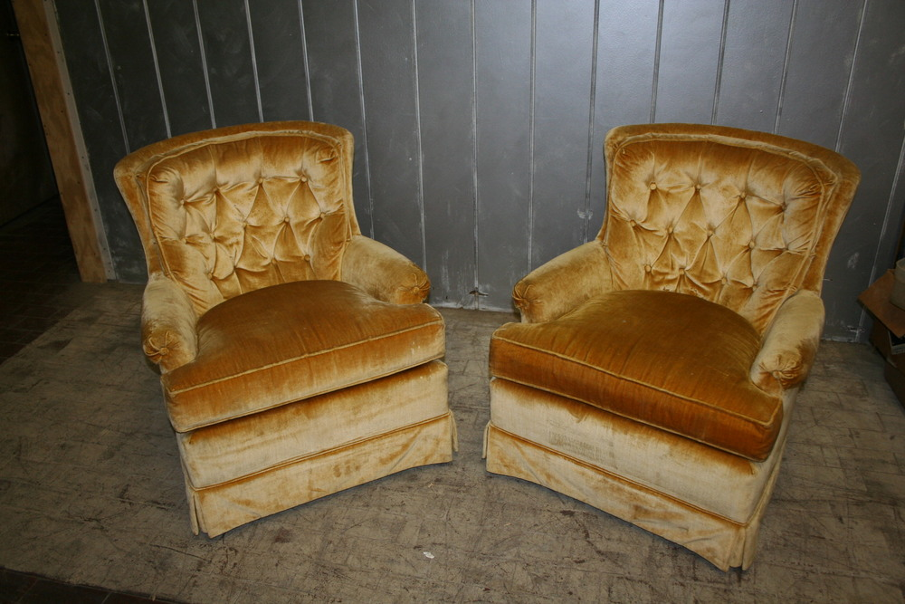 sold ! 1970's Upholstered Chairs $250 each