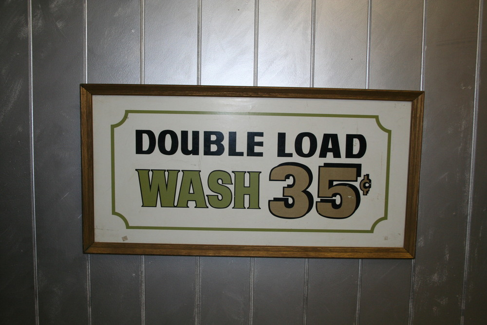 Vintage Laundry Sign $175