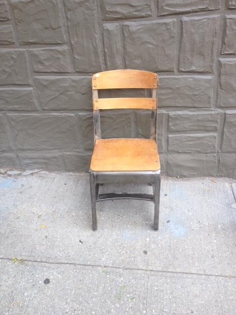 Vintage Wood & Metal School Chairs $125 each