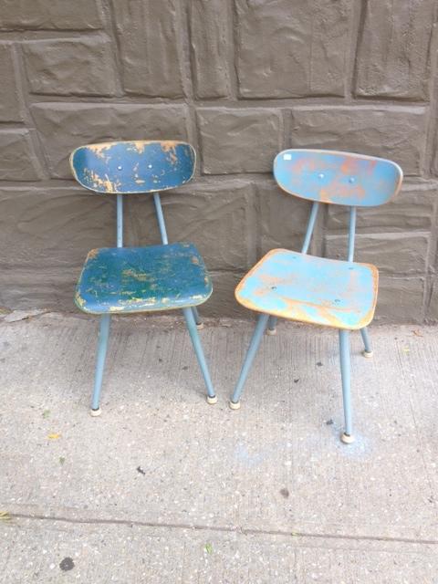 Vintage Painted Kids School chairs $45 each