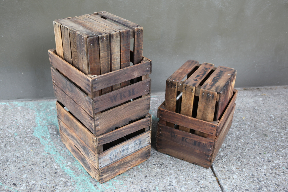 vintage Apple crates $45 each