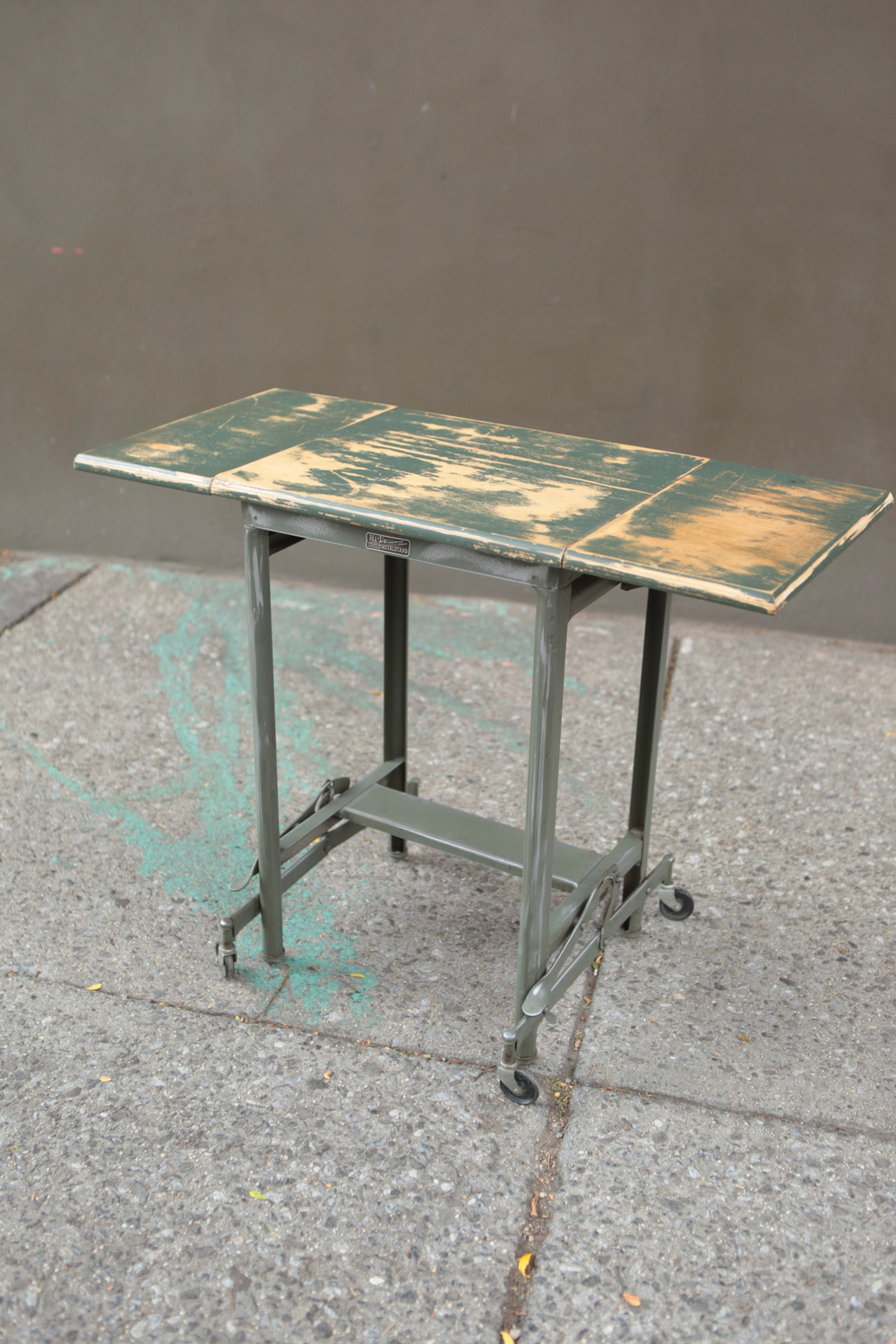 sold ! Reclaimed wood & metal stand $150