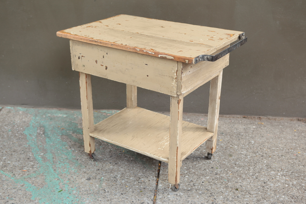 primitive farm house kitchen island $275