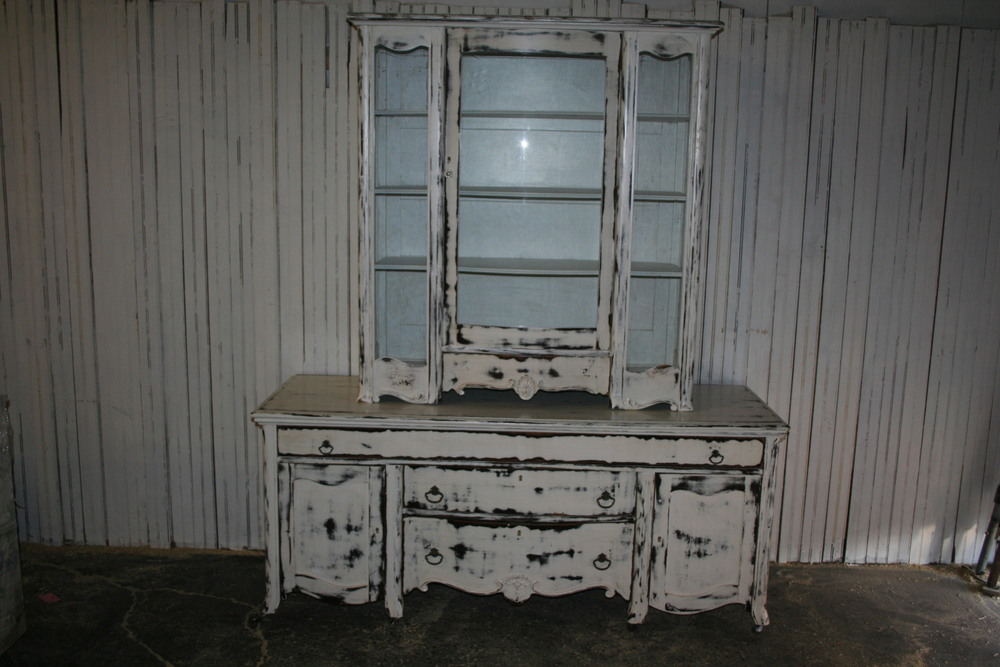 Old paint china cabinet