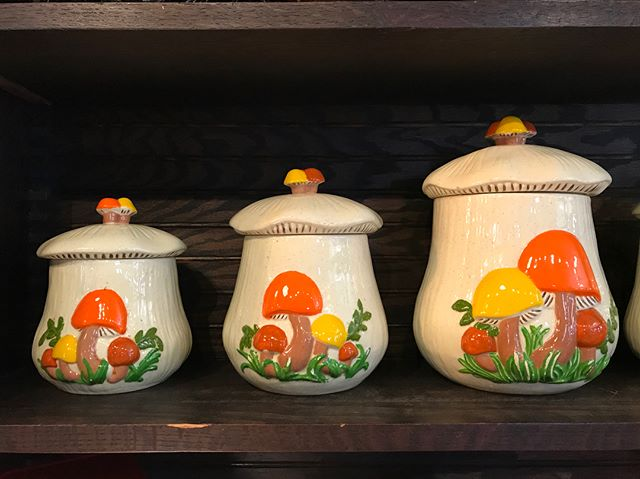 Check out these vintage beauties, handmade ceramic storage containers. Each one was made as a gift and imprinted w the maker's name. Sold as a six piece set!