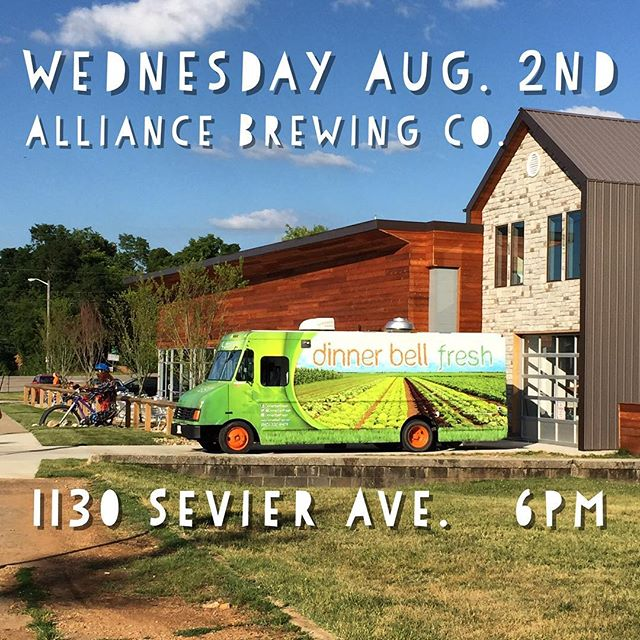 See you at @alliancebrewing tonight at 6pm. #alliance #patiolife #planttastic #healthyhappyknoxville #veggies #brew