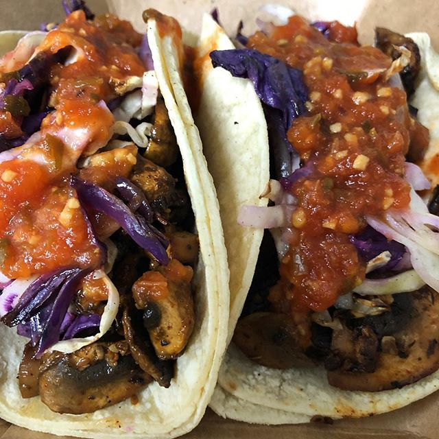 Marinated Mushroom Tacos and more tonight at @alliancebrewing. Serving at 6pm. (1130 Sevier Ave.) #brew #healthyhappyknoxville #planttastic #tacos