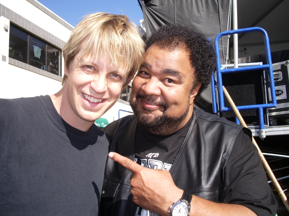 just before a gig  w/ the master, George Duke Oakland, CA 2005