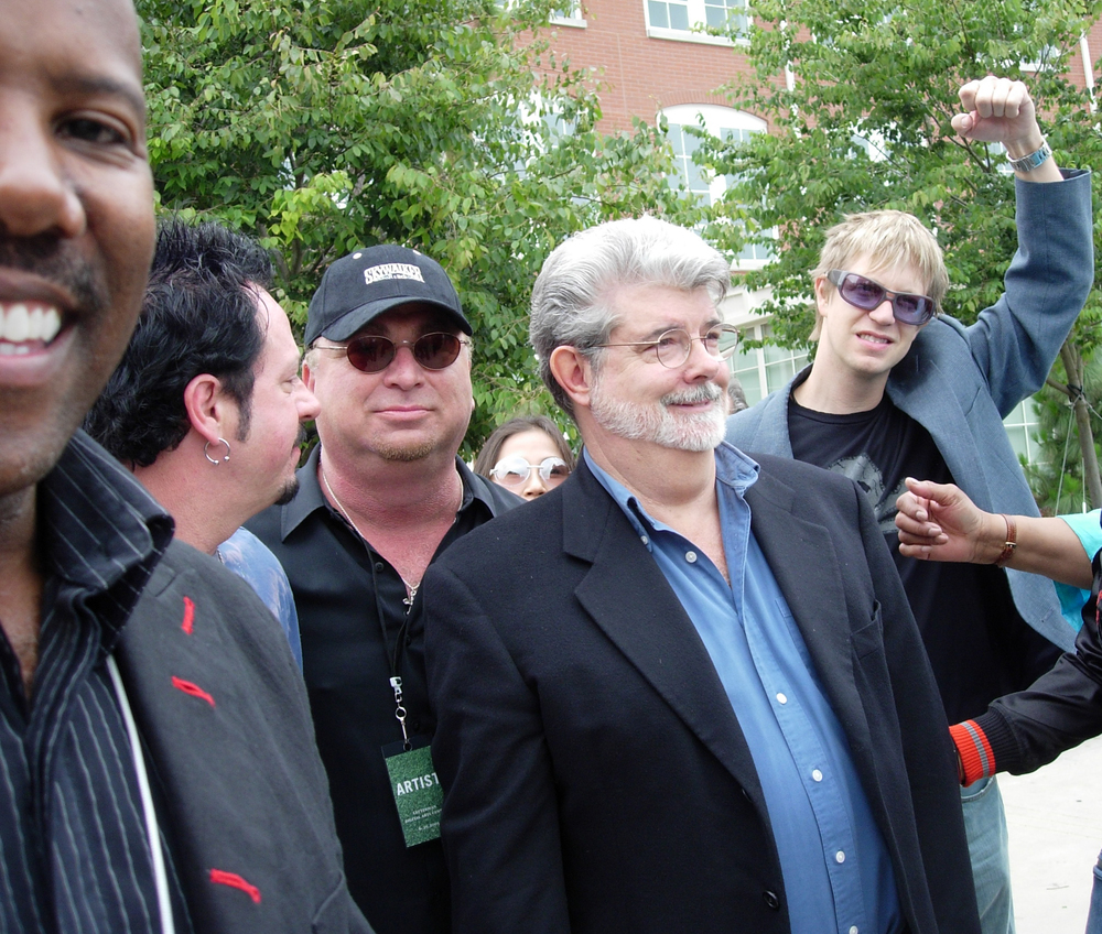 Nathan East, Steve Lukather, David Paich, George Lucas, jb The Presidio, SF, CA 2005