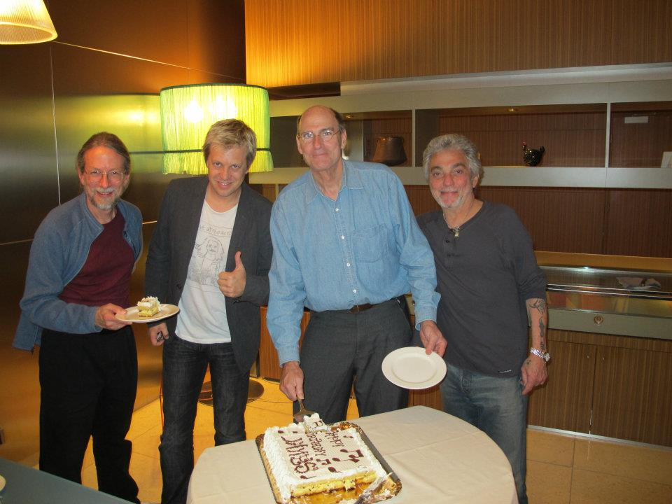 JT's bday w/ Jimmy Johnson, James Taylor, Steve Gadd;  Italian quartet tour 2012