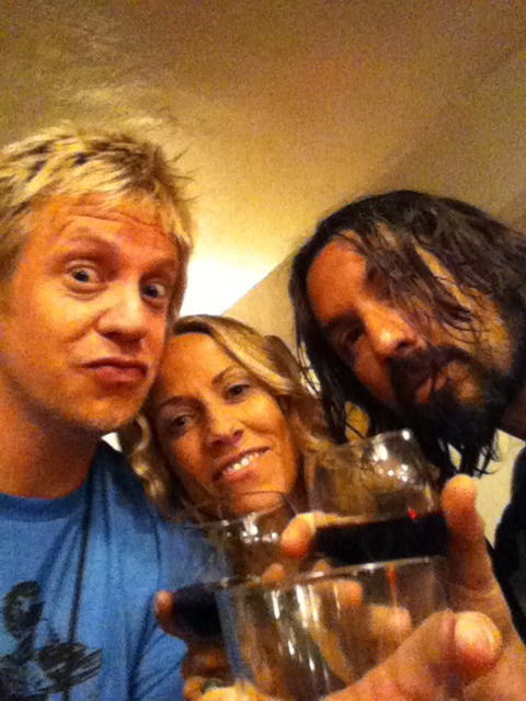 w/ Sheryl Crow & Justin Stanley, SC & The Thieves tour, backstage @ Red Rocks 2010